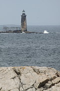 Ledge Photos - Ram Island Ledge Light I by Christiane Schulze