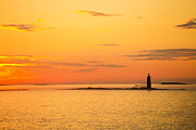 New England Sunset Photos - Ram Island Light Casco Bay Maine by Diane Diederich