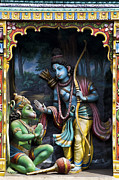 Ethnic Framed Prints - Rama and Hanuman  Framed Print by Tim Gainey