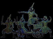 Beautiful Image Sculpture Prints - Ramayana Print by Thanavut Chao-ragam
