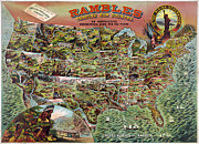 Board Game Digital Art Posters - Rambles Through America Poster by Nomad Art And  Design