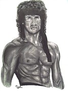 Rocky Mixed Media - Rambo III by Mike Grubb