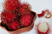 Rambutan Posters - Rambutan Ripe and Ready Poster by Mary Deal