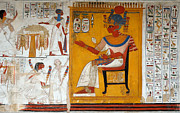 New Kingdom Temple Posters - Rameses II in a Egyptian Wall Painting of Temple of Beit El-Wali Poster by RicardMN Photography