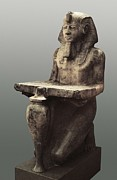 Statue Portrait Metal Prints - Ramesses Ii With The Table Of Abydoss Metal Print by Everett