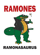 Ramones Prints - Ramonasaurus  Print by Christopher  Chouinard