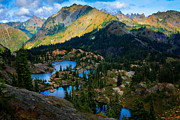 Lake Chelan Prints - Rampart Lakes Print by Inge Johnsson