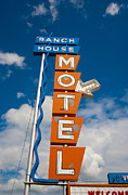Ranch Prints - Ranch House Motel Montana Print by Matthew Bamberg