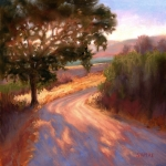 Expressionist Pastels Framed Prints - Ranch Road Framed Print by Lynee Sapere
