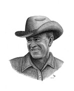 President Bush Prints - Rancher Print by Charles Vogan