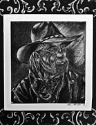 Country And Western Drawings - Rancher by Sheena Bolken