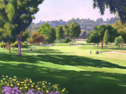 Shadows Posters - Rancho Santa Fe Golf Course Poster by Mary Helmreich