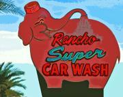 Rancho Super Car Wash Print by Charlette Miller