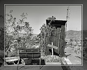 Ghost Town Outhouse Prints - Randsburg 23 Print by Cindy Nunn