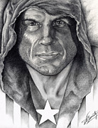 Ufc Drawings - Randy Couture by Robert Villazante