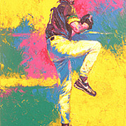 Mvp Painting Originals - Randy Johnson by Brent Benger