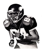 Vikings Drawings Posters - Randy Moss Poster by Devin Millington