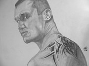 Justin Moore Drawings Prints - Randy Orton Print by Justin Moore