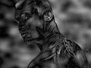 Rock Star Portraits Digital Art - Randy Orton Steel Edition by Justin Moore