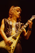 Concert Photos Prints - Randy Rhoads at The Cow Palace in San Francisco Print by Daniel Larsen