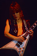 Concerts Prints - Randy Rhoads at The Cow Palace in San Francisco - Newly Listed in Gallery  Print by Daniel Larsen