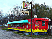 Mj Framed Prints - Randys Roadside Bar-B-Que Framed Print by Mj Olsen