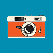 Manual Digital Art Prints - Rangefinder Film Camera Print by Igor Kislev