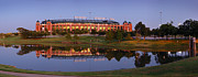 Ballpark Prints - Rangers Ballpark in Arlington at DUSK Print by Jon Holiday