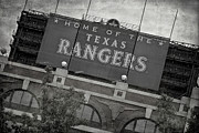 League Prints - Rangers Ballpark in Arlington Print by Joan Carroll