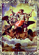 Robert Kernodle Posters - Raphael Vintage God Poster by Robert G Kernodle
