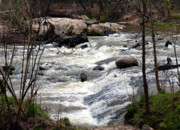 Whiteoak50 Framed Prints - Rapid Waters at Hurricane Shoals Framed Print by Eva Thomas