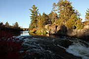Riverscape - Early Autumn Prints - Rapids in Autumn Print by Michael David James