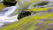 Water Flowing Framed Prints - Rapids in blurred motion Framed Print by Charline Xia