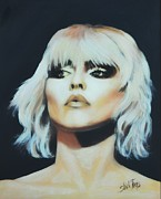Singer Painting Metal Prints - Rapture - Blondie Metal Print by Shirl Theis