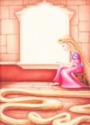 Rapunzel Print by Kendra Tharaldsen-Franklin