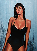 Stewart Framed Prints - Raquel Welch Framed Print by Paul  Meijering