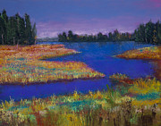 Colors Pastels Prints - Raquette Lake Print by David Patterson