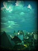 Jsm Fine Arts Halifax Prints - Rare Clouds Over Vegas Print by John Malone