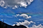 A Summer Evening Landscape Posters - Rare Iridescent Sky Over Colorado Poster by Janice Rae Pariza