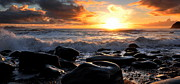 Florian Walsh Metal Prints - Rare Irish Sunset Metal Print by Florian Walsh