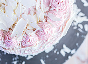 Frosting Prints - Raspberry White Chocolate Cake Print by Edward Fielding