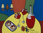 Dessert Wine Paintings - Raspberry Wine by Barbara McMahon