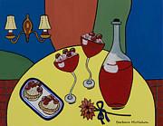 Raspberry Wine Print by Barbara McMahon