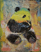 Rastafarian Paintings - Rasta Panda by Michael Creese