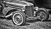 Monochrome Hot Rod Prints - Rat Ford Print by Ron Roberts