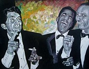 Frank Sinatra Painting Originals - Rat Pack by Jeremy Moore
