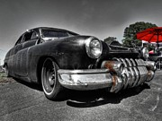 Chopped Prints - Rat Rod - 51 Mercury 001 Print by Lance Vaughn