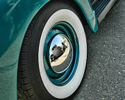 Hubcaps Digital Art - Rat Rod Reflection by Victor Montgomery
