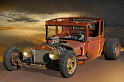 Ford Model T Car Prints - Rat Rod Royal - T Print by Dave Koontz