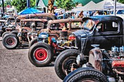 Roads Mixed Media - Rat Rods by Todd and candice Dailey